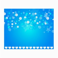 Desktop Banner Postcard Hearts Small Glasses Cloth (2 Side)
