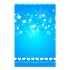 Desktop Banner Postcard Hearts Shower Curtain 48  X 72  (small)