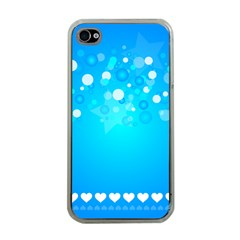 Desktop Banner Postcard Hearts Apple Iphone 4 Case (clear)