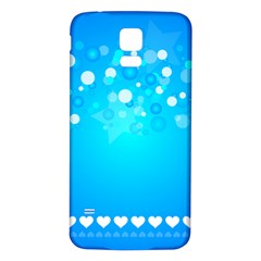 Desktop Banner Postcard Hearts Samsung Galaxy S5 Back Case (white)