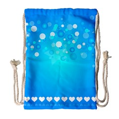 Desktop Banner Postcard Hearts Drawstring Bag (large)