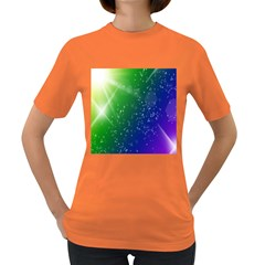 Shiny Sparkles Star Space Purple Blue Green Women s Dark T Shirt