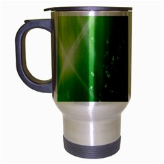 Shiny Sparkles Star Space Purple Blue Green Travel Mug (silver Gray)