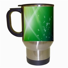 Shiny Sparkles Star Space Purple Blue Green Travel Mugs (white)