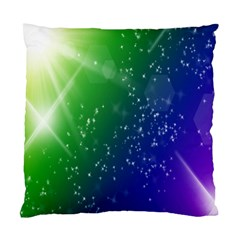 Shiny Sparkles Star Space Purple Blue Green Standard Cushion Case (two Sides)