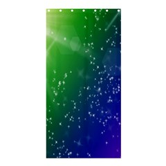 Shiny Sparkles Star Space Purple Blue Green Shower Curtain 36  x 72  (Stall)