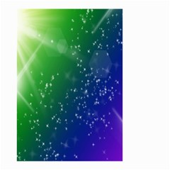 Shiny Sparkles Star Space Purple Blue Green Small Garden Flag (two Sides)