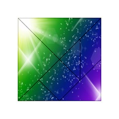 Shiny Sparkles Star Space Purple Blue Green Acrylic Tangram Puzzle (4  x 4 )