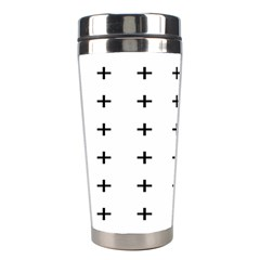 Sign Cross Plus Black Stainless Steel Travel Tumblers