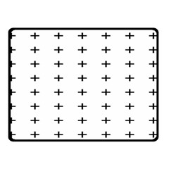 Sign Cross Plus Black Double Sided Fleece Blanket (Small)