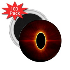 Solar Eclipse Moon Sun Black Night 2.25  Magnets (100 pack)