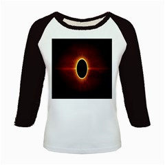 Solar Eclipse Moon Sun Black Night Kids Baseball Jerseys