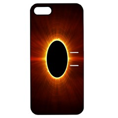 Solar Eclipse Moon Sun Black Night Apple Iphone 5 Hardshell Case With Stand
