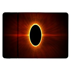 Solar Eclipse Moon Sun Black Night Samsung Galaxy Tab 8 9  P7300 Flip Case