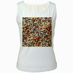 My Fantasy World 38 Women s White Tank Top