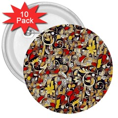 My Fantasy World 38 3  Buttons (10 pack)
