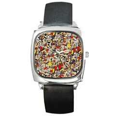 My Fantasy World 38 Square Metal Watch