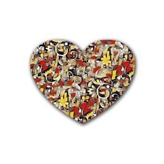 My Fantasy World 38 Rubber Coaster (Heart)