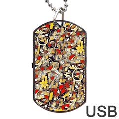 My Fantasy World 38 Dog Tag USB Flash (Two Sides)