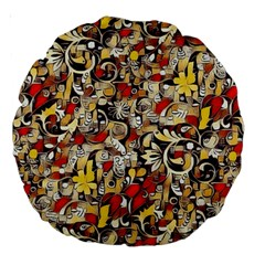 My Fantasy World 38 Large 18  Premium Round Cushions