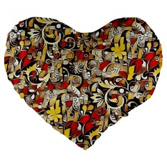 My Fantasy World 38 Large 19  Premium Heart Shape Cushions