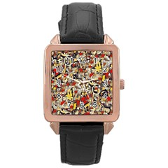 My Fantasy World 38 Rose Gold Leather Watch
