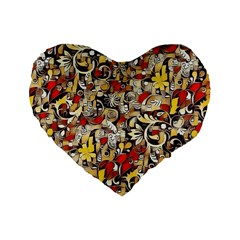 My Fantasy World 38 Standard 16  Premium Flano Heart Shape Cushions