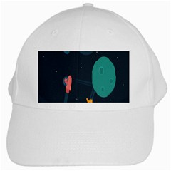 Space Illustration Irrational Race Galaxy Planet Blue Sky Star Ufo White Cap