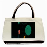 Space Illustration Irrational Race Galaxy Planet Blue Sky Star Ufo Basic Tote Bag (Two Sides) Back