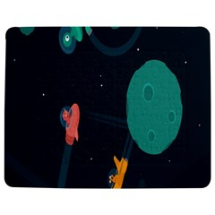 Space Illustration Irrational Race Galaxy Planet Blue Sky Star Ufo Jigsaw Puzzle Photo Stand (rectangular)