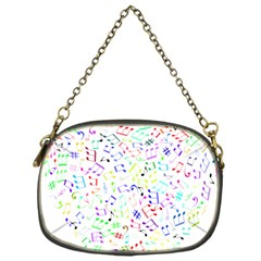 Prismatic Musical Heart Love Notes Rainbow Chain Purses (one Side)