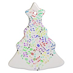 Prismatic Musical Heart Love Notes Rainbow Ornament (christmas Tree)