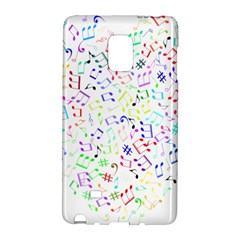 Prismatic Musical Heart Love Notes Rainbow Galaxy Note Edge