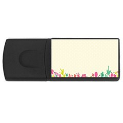 Spring Floral Flower Rose Tulip Leaf Flowering Color USB Flash Drive Rectangular (2 GB)