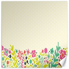 Spring Floral Flower Rose Tulip Leaf Flowering Color Canvas 12  x 12