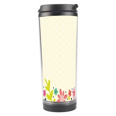 Spring Floral Flower Rose Tulip Leaf Flowering Color Travel Tumbler