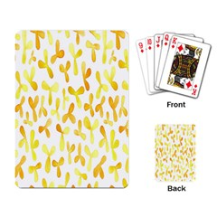 Springtime Yellow Helicopter Playing Card