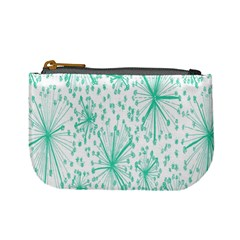 Spring Floral Green Flower Mini Coin Purses
