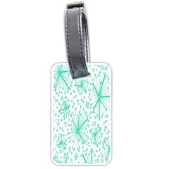 Spring Floral Green Flower Luggage Tags (Two Sides)