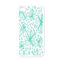 Spring Floral Green Flower Apple Iphone 4 Case (white)