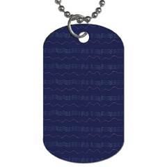 Summers Night Wave Chevron Blue Dog Tag (one Side)