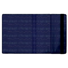 Summers Night Wave Chevron Blue Apple Ipad 3/4 Flip Case