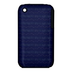 Summers Night Wave Chevron Blue iPhone 3S/3GS