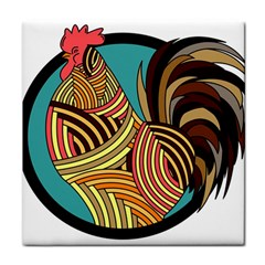 Rooster Poultry Animal Farm Tile Coasters