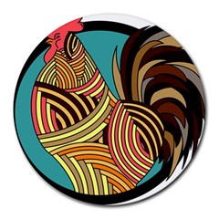 Rooster Poultry Animal Farm Round Mousepads