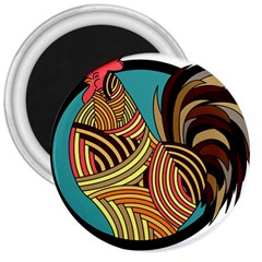 Rooster Poultry Animal Farm 3  Magnets