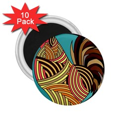 Rooster Poultry Animal Farm 2.25  Magnets (10 pack)