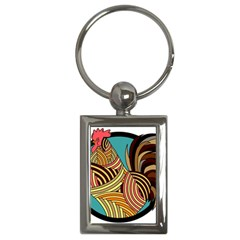 Rooster Poultry Animal Farm Key Chains (rectangle)