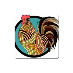 Rooster Poultry Animal Farm Square Magnet