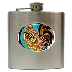 Rooster Poultry Animal Farm Hip Flask (6 Oz)